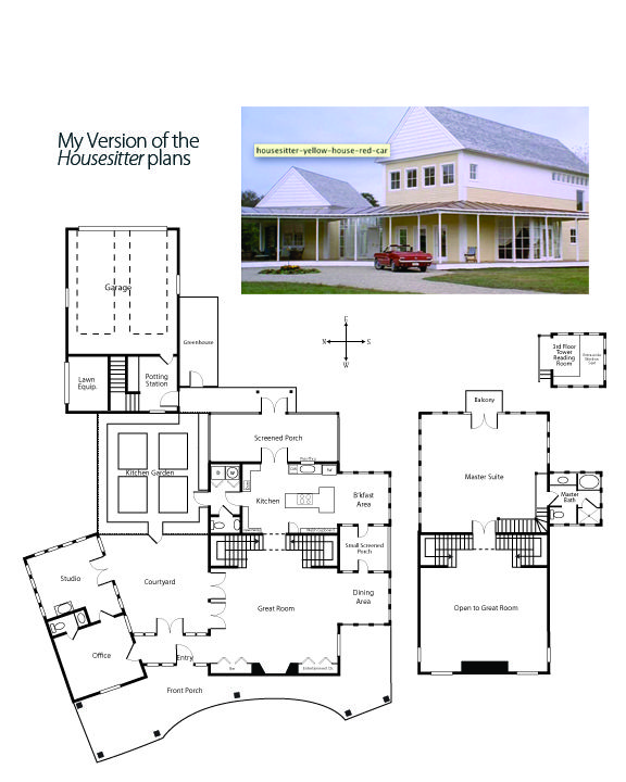 I Have Been Fascinated Ie Obsessed With The House Set From The Movie Housesitter Starring Steve Martin And Go Dream House Plans New House Plans Martin House Yellow house floor plan