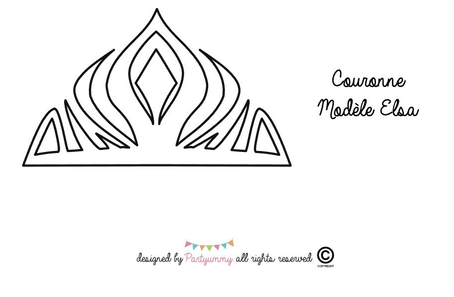 Couronne Elsa Glacage Royal Icing Crown Tiara Frozen Pattern