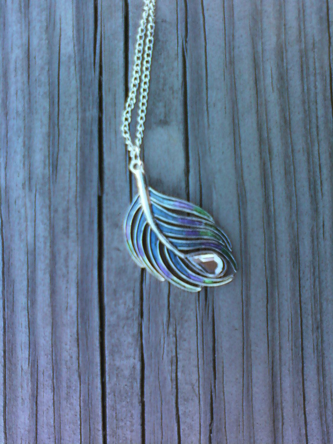 Fancy Peacock Feather Necklace by SinfullySweetDesigns on Etsy, $16.00