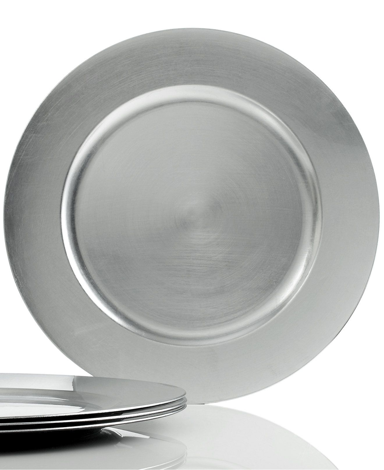$14.95 Charter Club Dinnerware Set of 4 Platinum Charger Plates - Serveware - Dining u0026 Entertaining - Macyu0027s Bridal and Wedding Registry  sc 1 st  Pinterest : dinnerware and serveware sets - Pezcame.Com