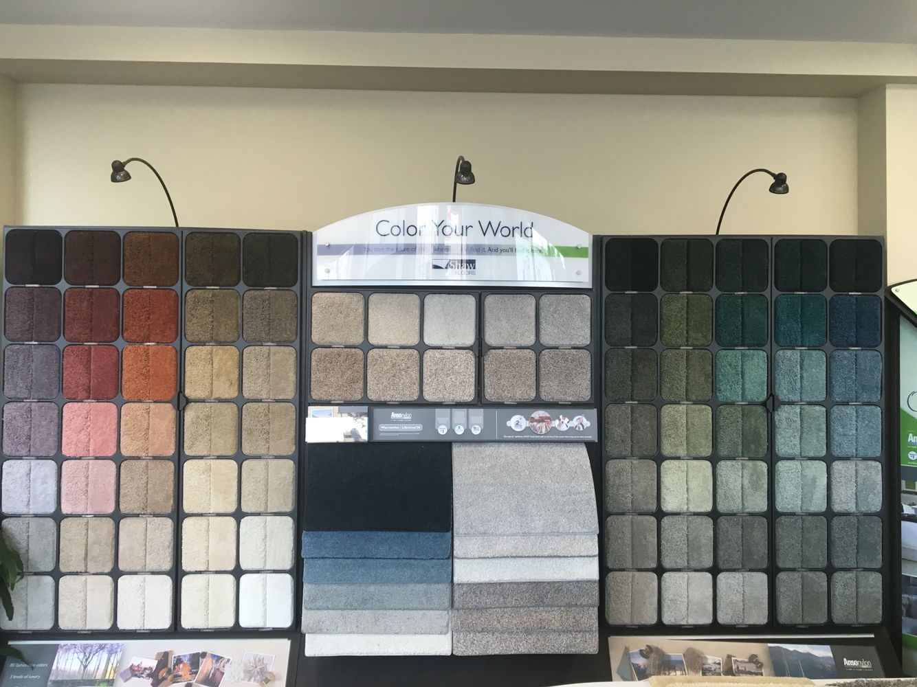 Shaw Color Your World Display Featuring Ansonylon Carpet Woodside Time Inc Square Feet
