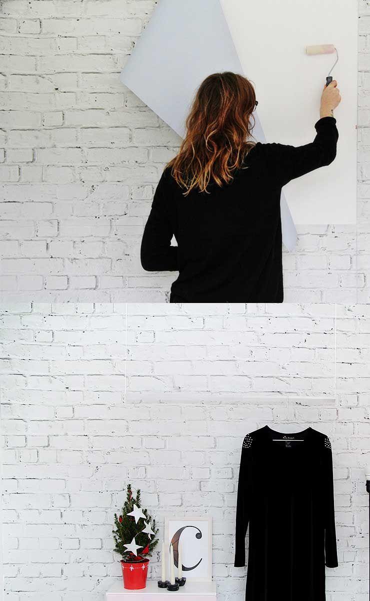 C Mo Decorar Una Pared Con Ladrillos Vistos Blancos Mil Ideas  ~ Papel De Pared Imitacion Ladrillo