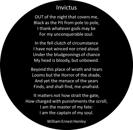 Image result for invictus poem pdf   Poems   Pinterest   Invictus ...
