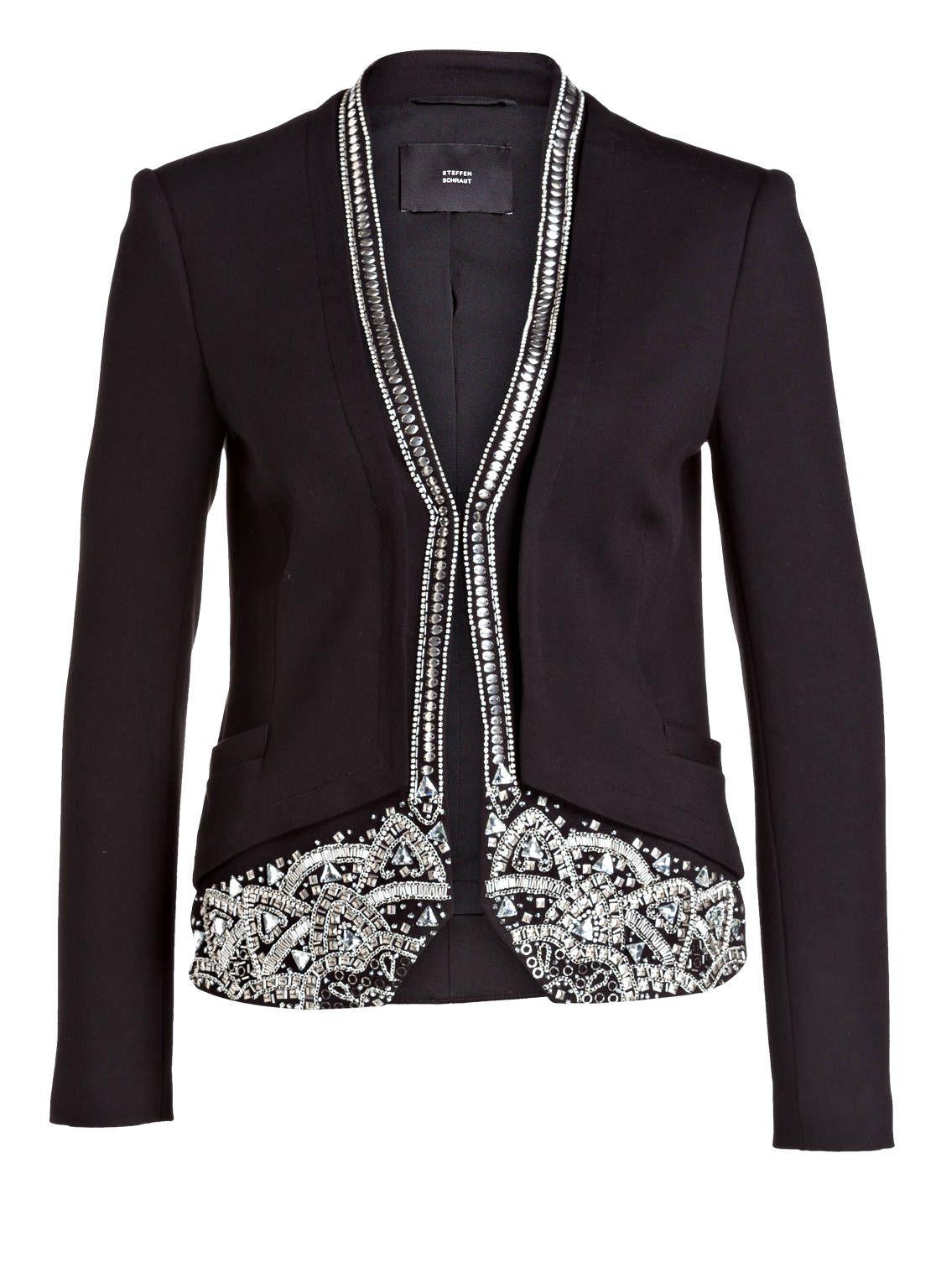 STEFFEN SCHRAUT Black Embellished Blazer