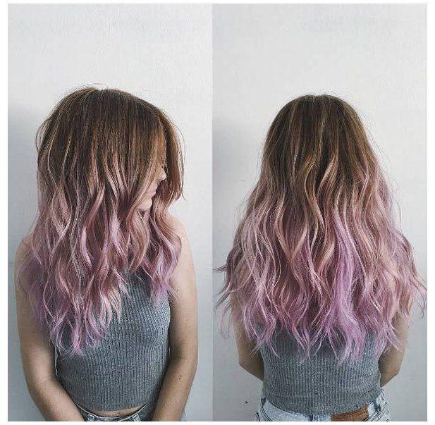 purple hair highlights blonde