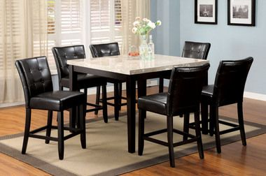 Wilmington Ivory Marble Square Counter Height Table Set Counter Height Table Sets Counter Height Dining Table Counter Height Dining Sets