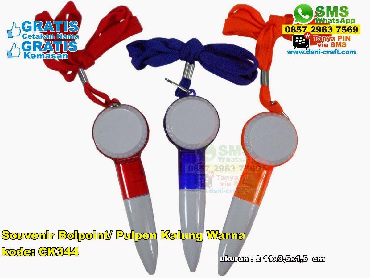 Souvenir Bolpoint Pulpen Kalung Warna Warni Sms Wa Telp 081326601110 Pin
