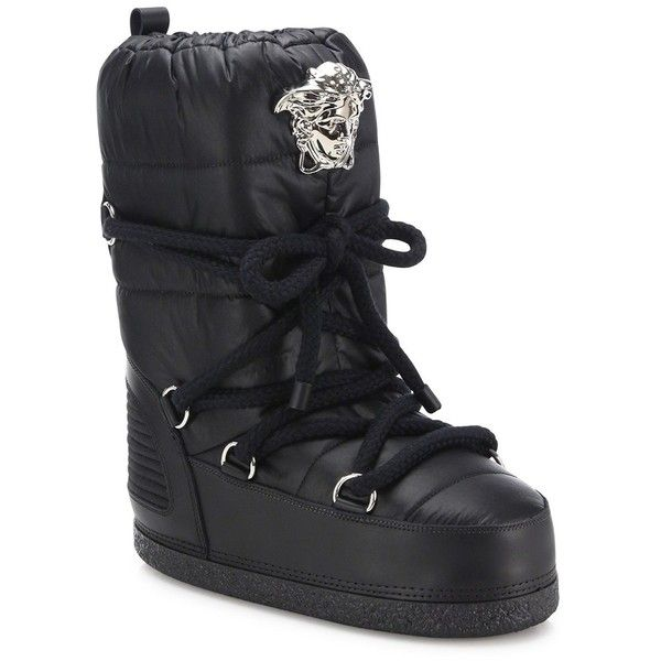 Versace Snow Boots ($835) ❤ liked on