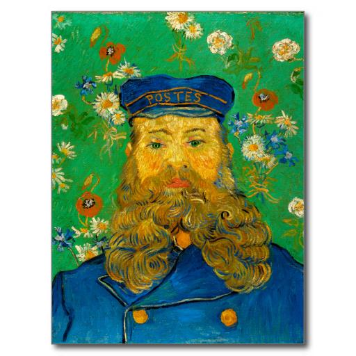 Portrait of Joseph Roulin by Vincent Van Gogh Post Card