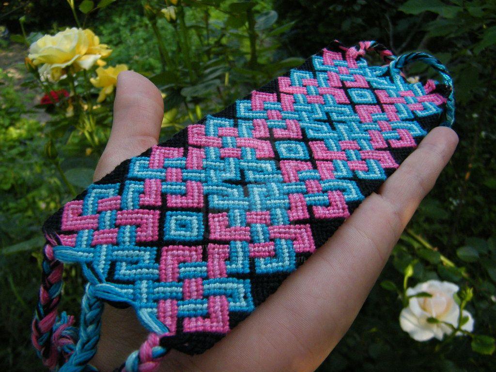 Pink-Blue gigant celtic bracelet by Teszugi.deviantart.com