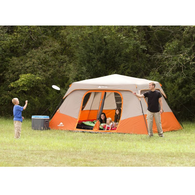 Ozark Trail Instant 13 X 9 Cabin Camping Tent Sleeps 8 Walmart Com Family Tent Camping Ozark Trail Tent Cabin Tent