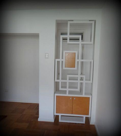 Mueble separador de ambientes enchapado lamitech y madera - Separador de ambientes ...
