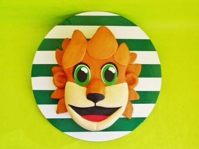 Soccer mascot By HaveSomeSugar on CakeCentral.com