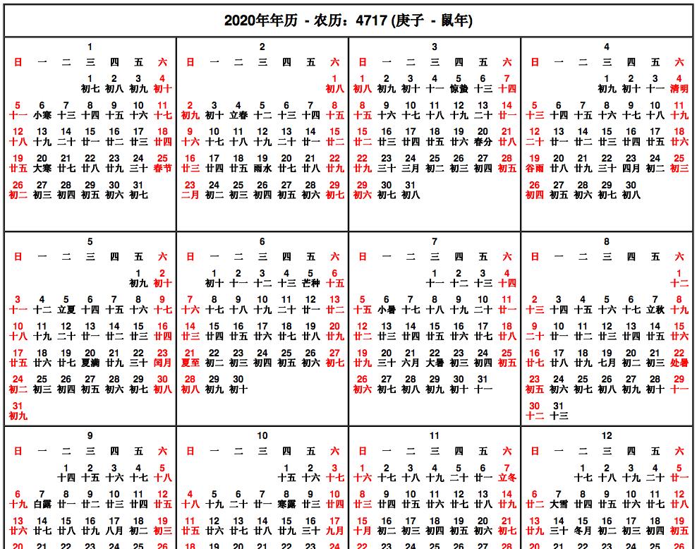 Chinese Lunar Calendar 2018 Chinese lunar calendar