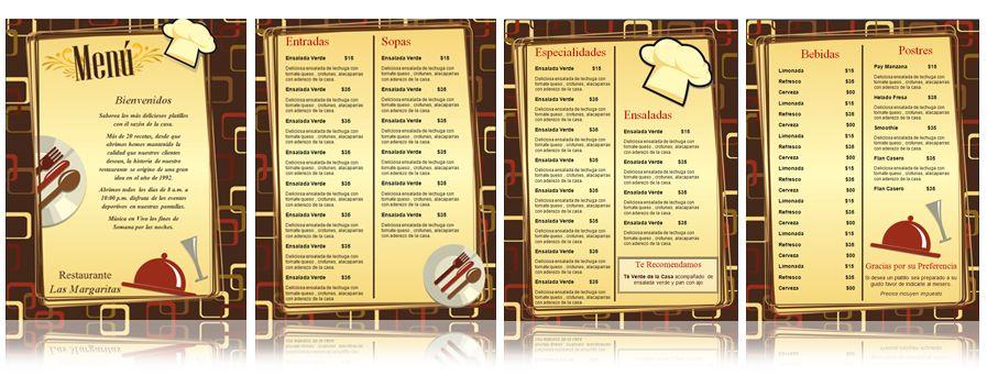 plantilla para menus de restaurante Menus de