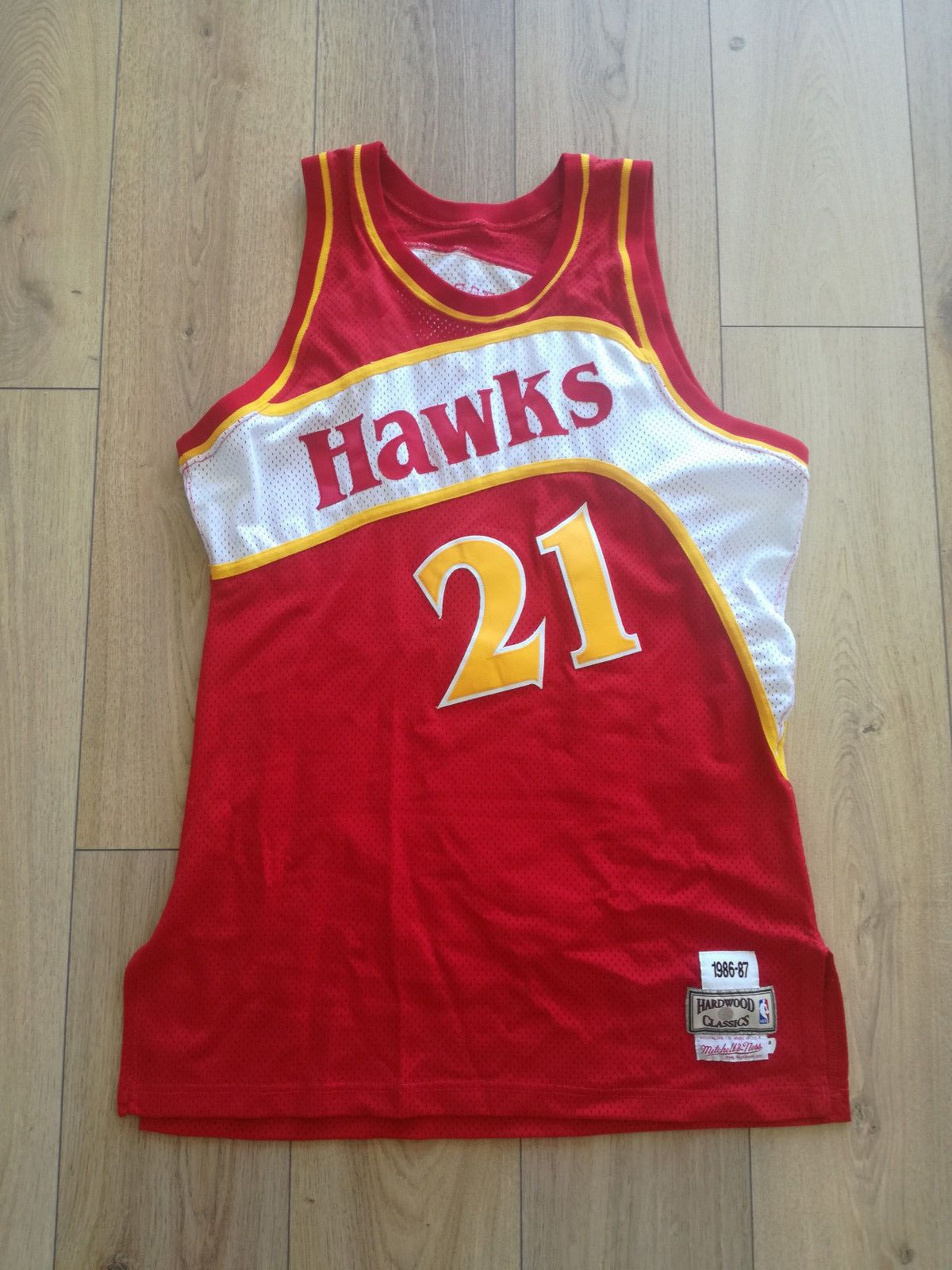 f015d0a49 Dominique Wilkins Mitchell and Ness Hawks Authentic Jersey 48 made in USA  (eBay Link)