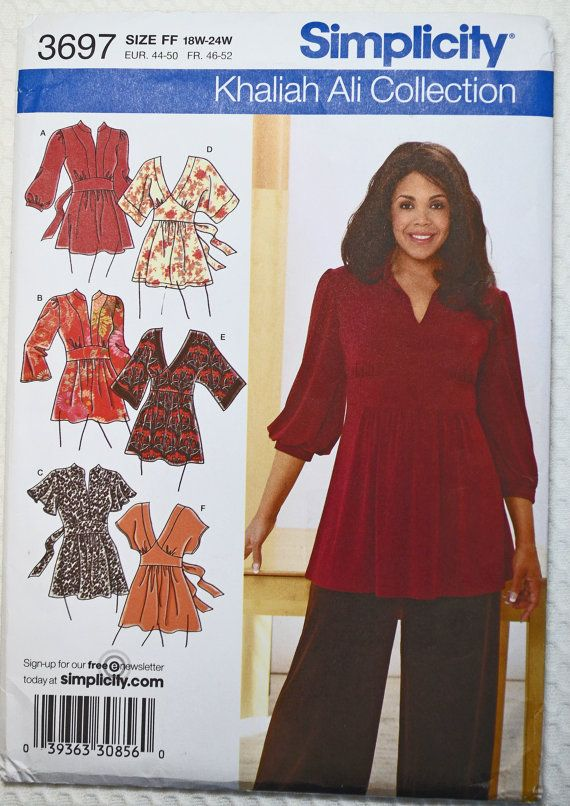 Simplicity 3697 Sewing Pattern Khaliah Ali Collection Womens