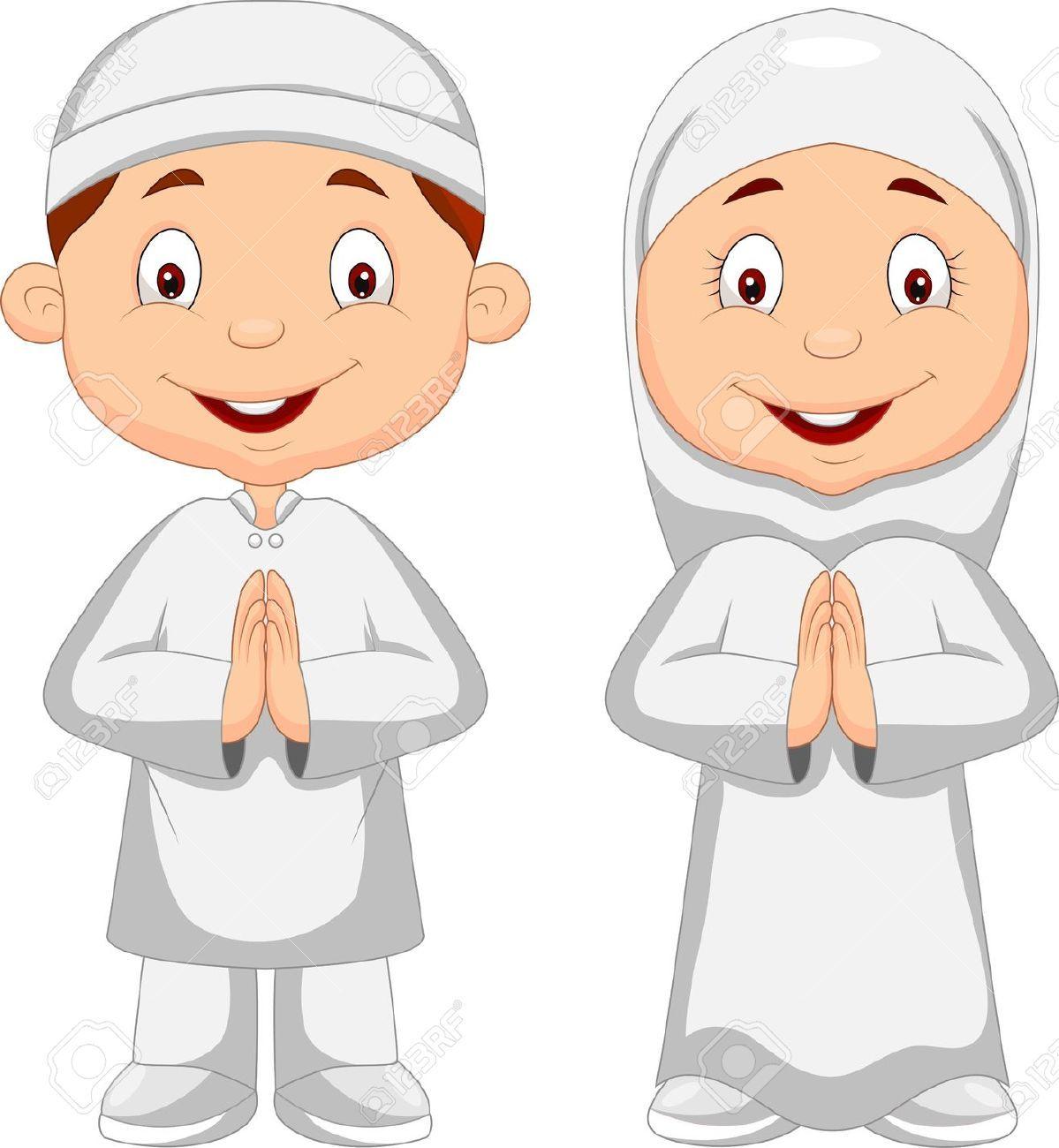 Gambar Animasi Anak Muslim