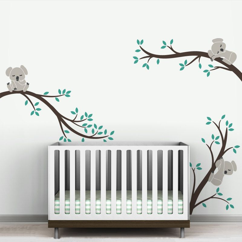 Oversize Removable Koala Tree Branches Diy Wall Decals Wall
