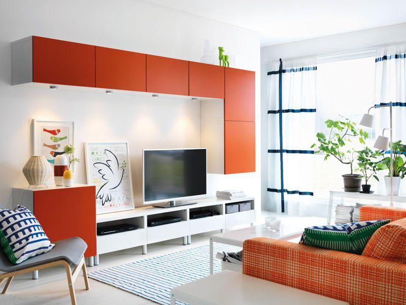 Librerías con estilo para organizar el salón | Family room ...