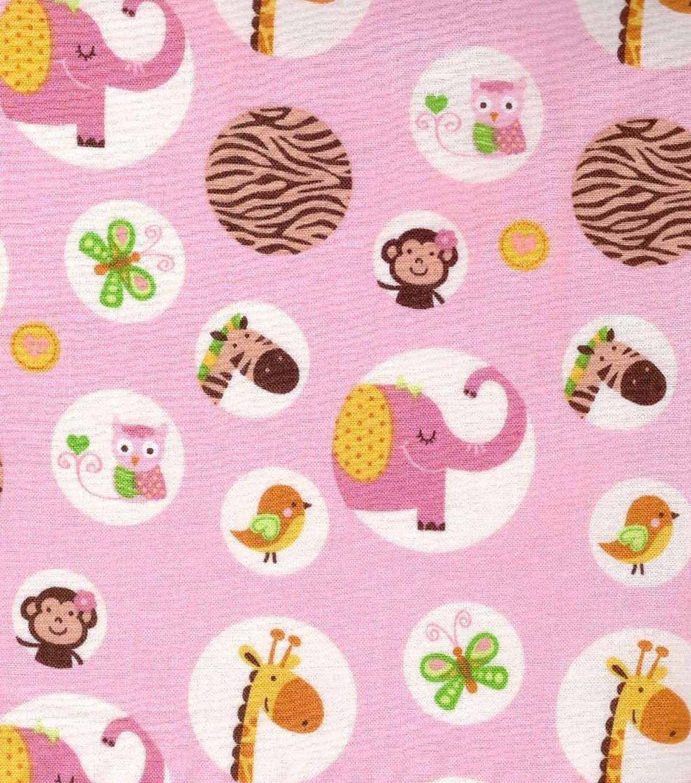 Nursery fabric jungle animals circles circles jungles and nurseries