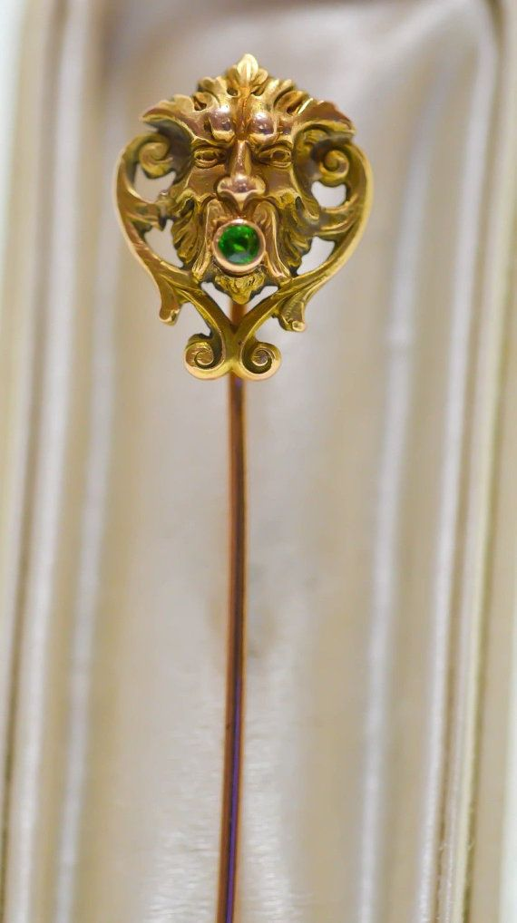 antique vintage stick pin with little cameo