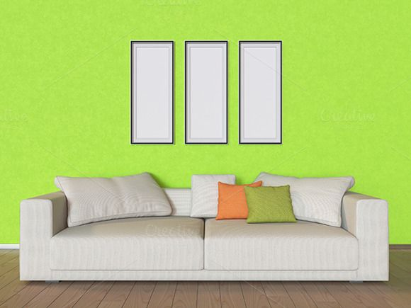 3D illustrations wall with pictures by RichmanStudio on Creative Market