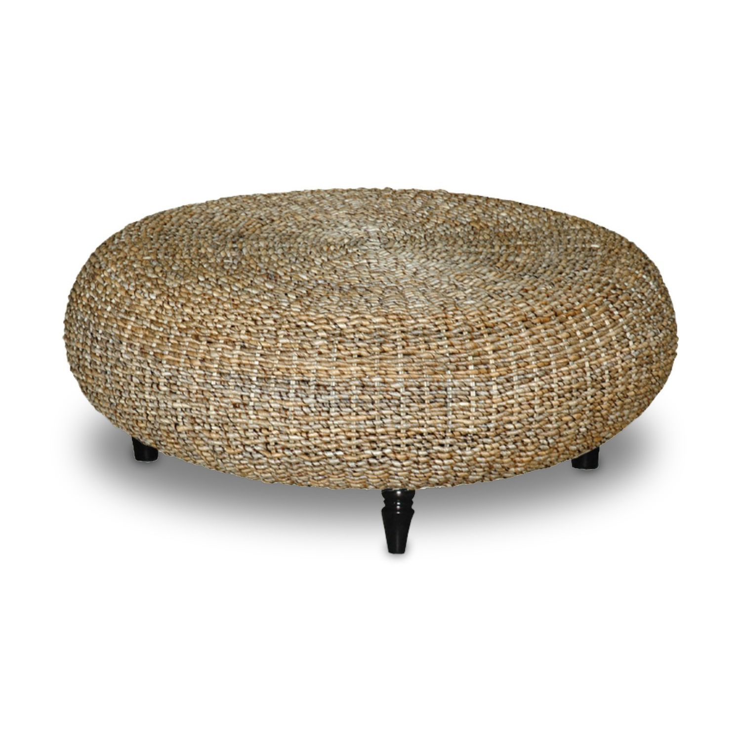 Decorative Tan Transitional Riau Round Coffee Table by Jeffan