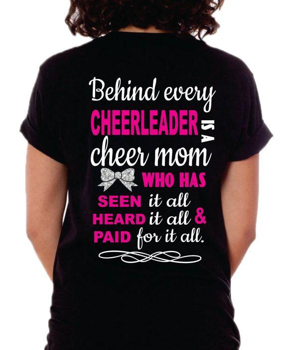 25dc84aaac18 Cheer Mom Shirt, Cheer Mom T-Shirt, Behind every Cheerleader | Cheer ...
