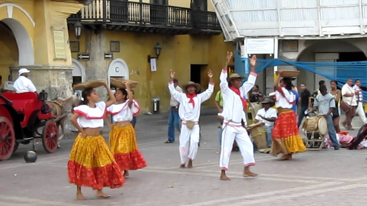Traditional Dancing in Cartagena, Colombia Cumbia