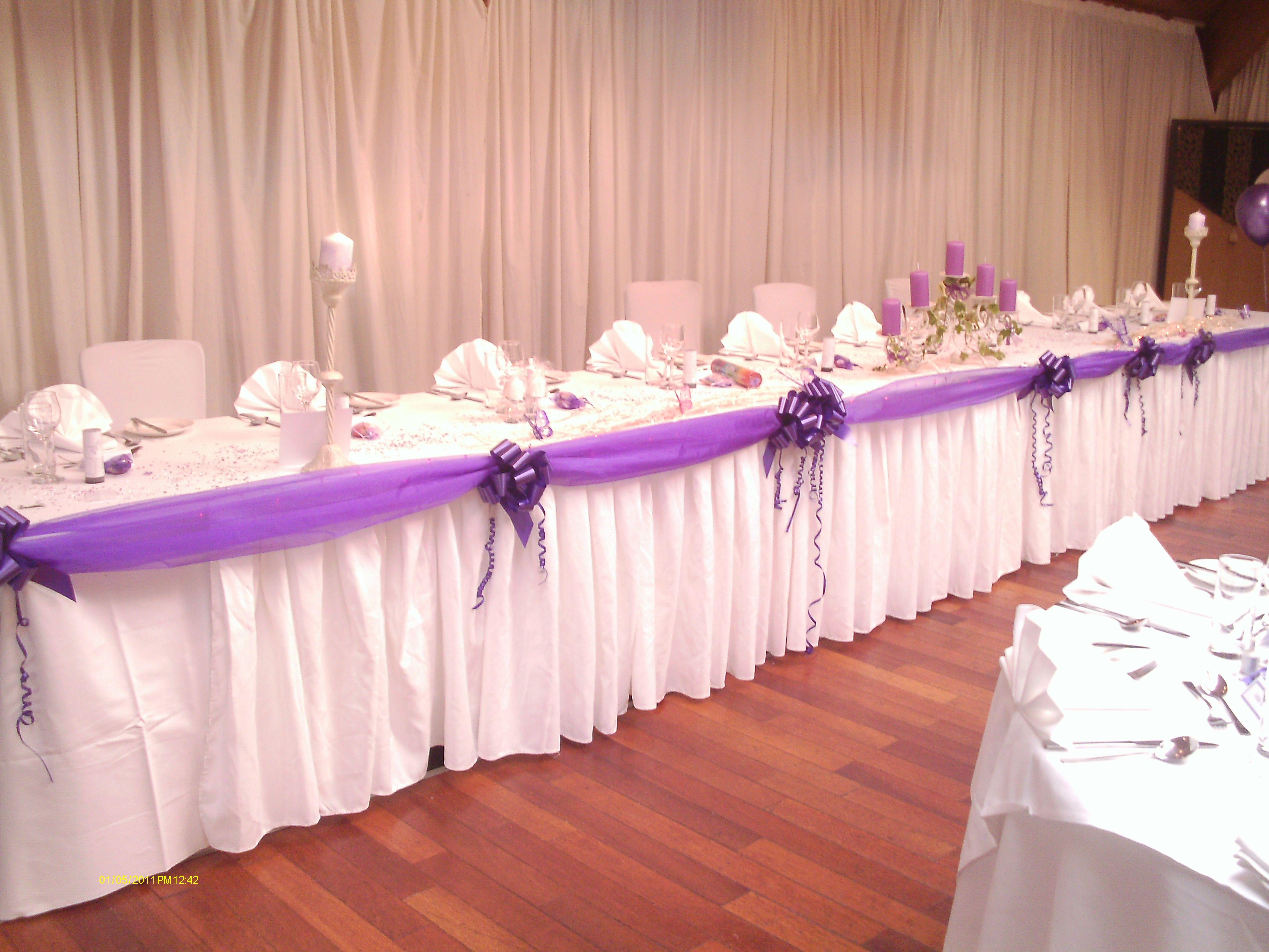 Venue Decoration: White & Cadbury Purple - The Cruin Loch Lomond ...
