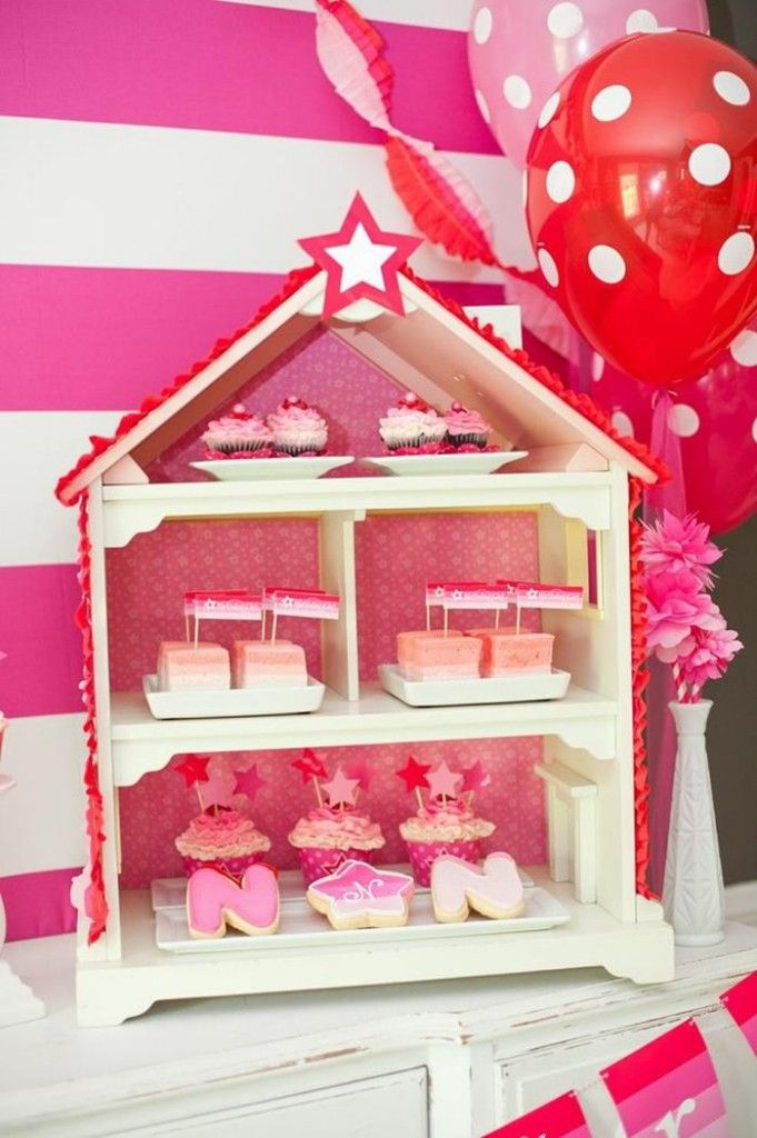 American Girl Doll Birthday Party via Kara's Party Ideas | Kara'sPartyIdeas.com #Pink #Doll #PartyIdeas #Supplies (24)