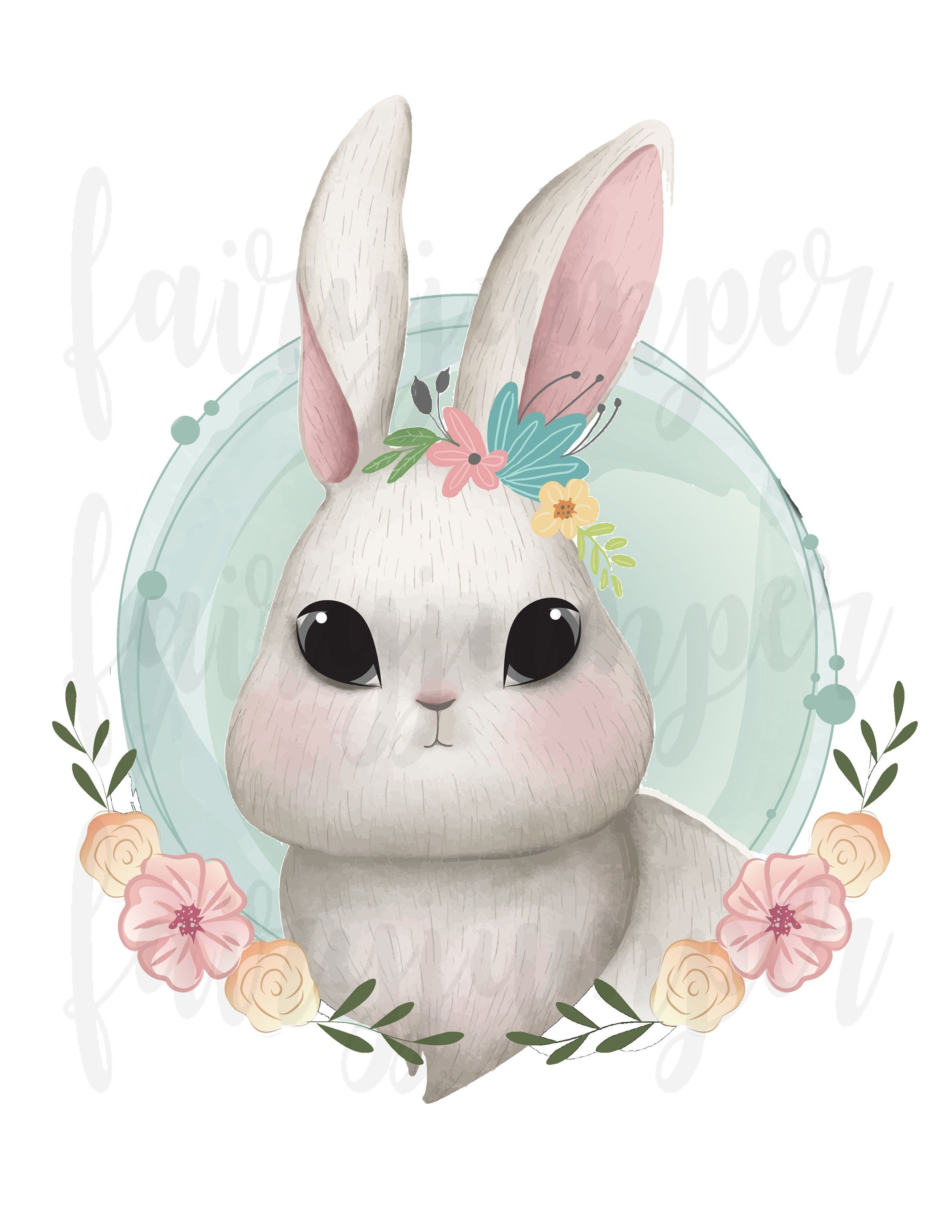 Rabbit Clipart Easter Bunny White Baby Rabbit Png Sublimation Graphics Transfer Cute Bunny Easter Rabbit Gir Girls Cartoon Art Bunny Art Rabbit Clipart