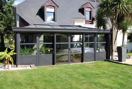 veranda aluminium de style industriel r alisation. Black Bedroom Furniture Sets. Home Design Ideas