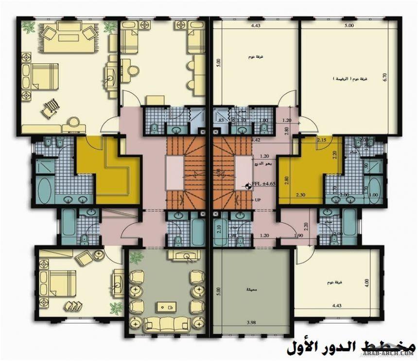 مشروع فلل ديار العثمانية فيلا دوبلكس على الطراز الأندلسي Architectural House Plans House Layouts House Styles