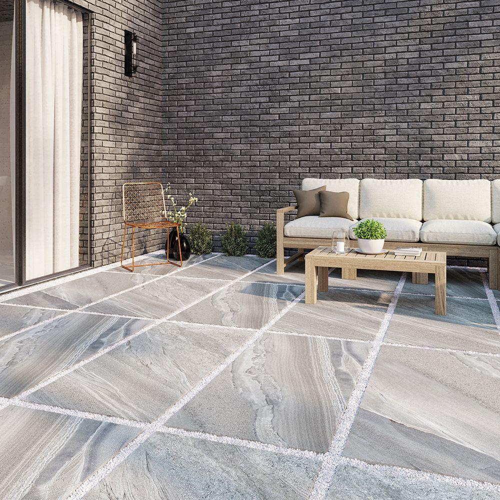 Anti Slip Outdoor Porcelain Paving Slabs King Size Slabs 1200x600 Royalestones Gardendesigns Outdoorporcelainpaving Paving Slabs Paved Patio Marble Effect