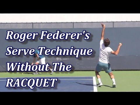 Roger Federer S Serve Technique Racquet Digitally Removed Roger Federer Tennis Serve Tennis Quotes