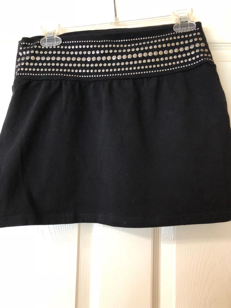 000c4252a express black mini skirt studded waist band in good condition size medium  #fashion #clothing #shoes #accessories #womensclothing #skirts (ebay link)