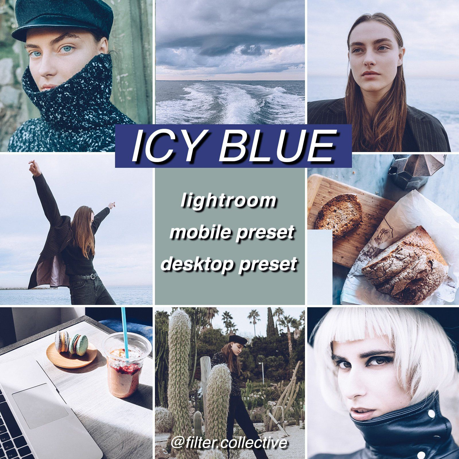 2 Mobile Lightroom Presets / Icy Blue / Blogger Style / Photo Filter
