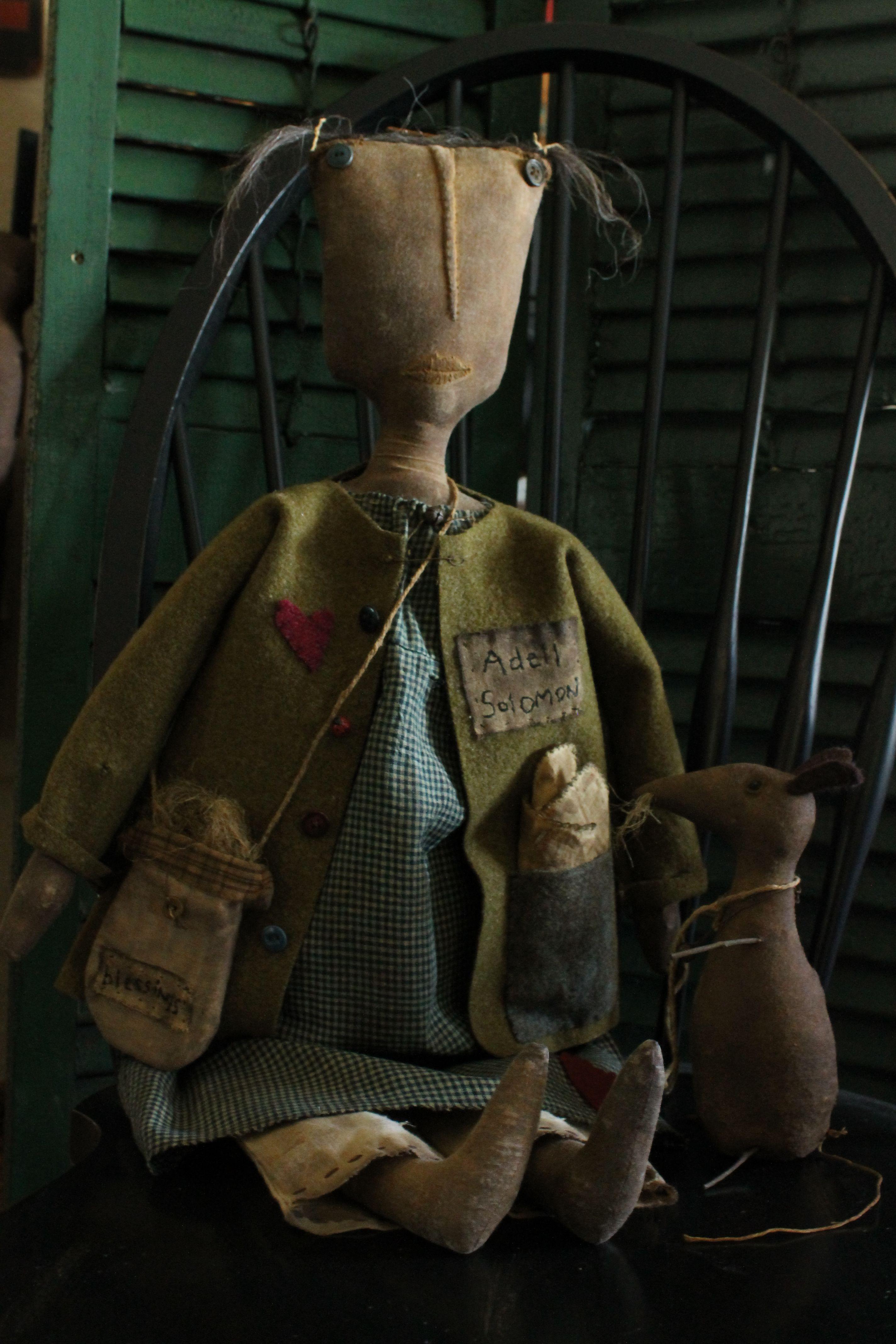 Adell Soloman A Fine Handmade Primitive Adell Has Wool