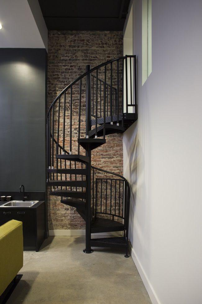 Industrial Loft Spiral Stair Classic Steel Spiral Stair Spiral | Outdoor Spiral Staircase Prices | Dipped Galvanized | Stair Treads | Furniture Ideas | Deck | Treads