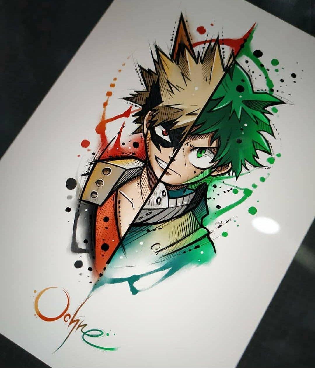 Pin By Gabok On Painting Hero Tattoo Hero Wallpaper Anime Sketch