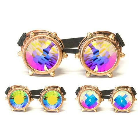 GloFX - Copper Bolt Kaleidoscope Goggles