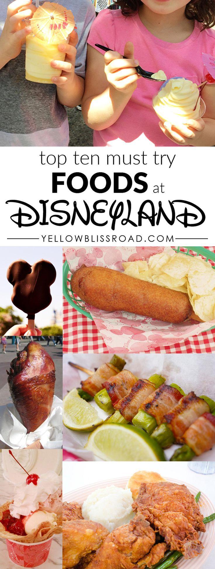 Top Ten Foods To Eat At Disneyland