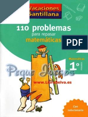 110 Problemas De Matematicas Vacaciones Santillana 2 Problemas Matematicos Matematicas Buenos Lectores