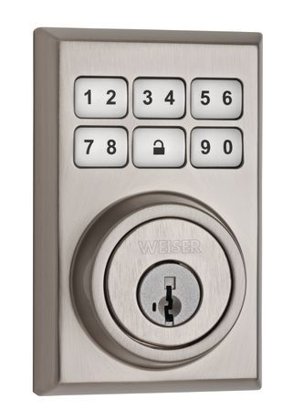 Weiser Smartcode Keyless Entry Keypad Deadbolt, Satin Nickel