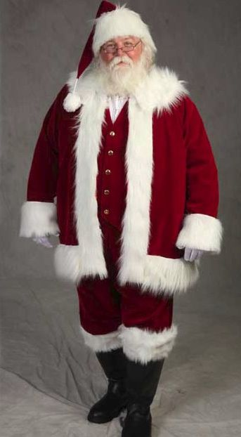 f972fc13835 Image Detail for - Deluxe Traditional Santa suit    Santa Suits     planetsanta.com I like the vest idea