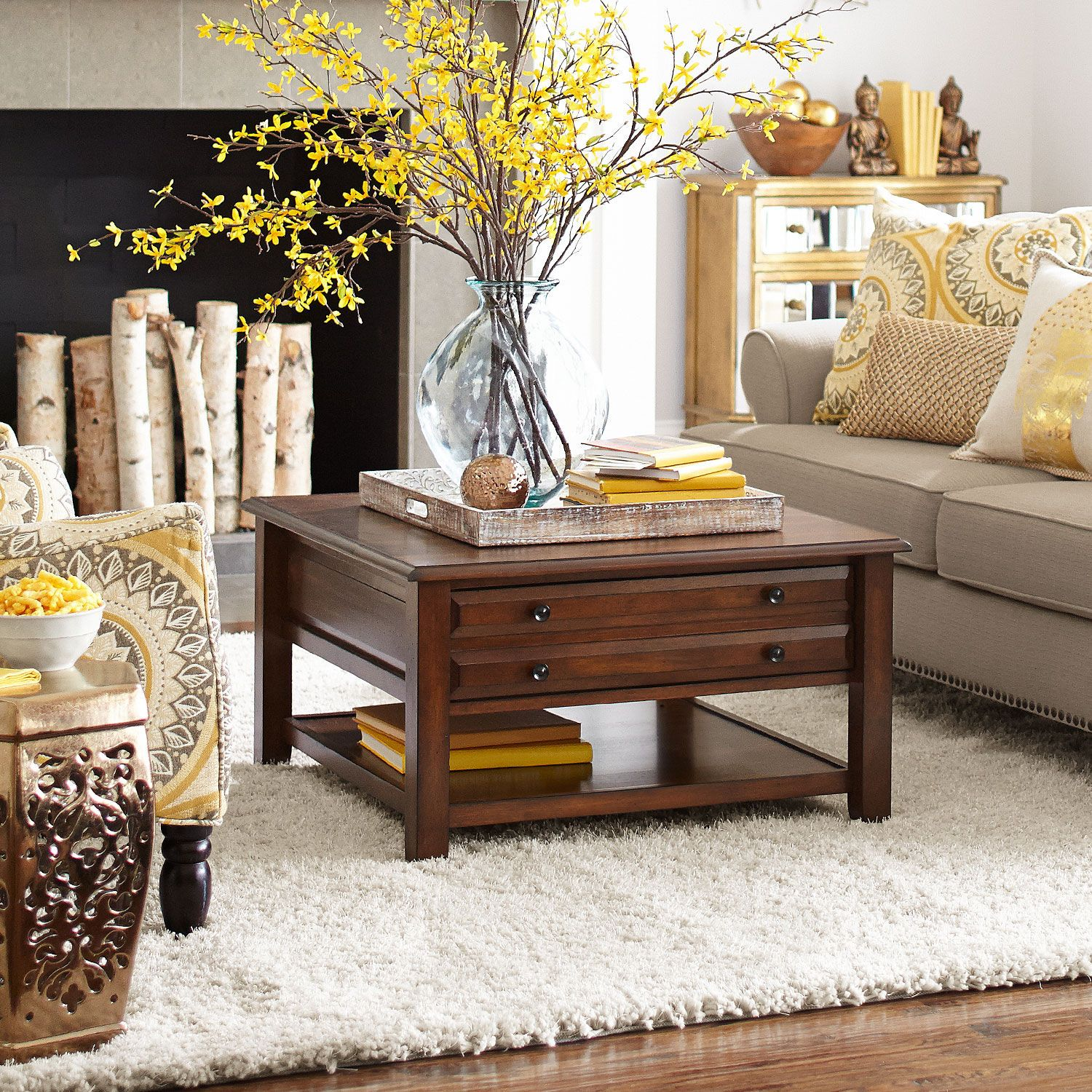 Anywhere Square Coffee Table Tuscan Brown With Images House