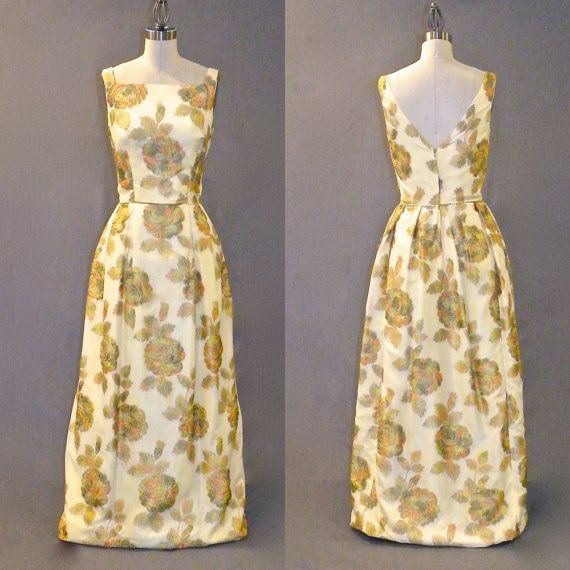 Vintage 1960s Formal Dress Floral Jacquard Party by daisyandstella, $115.00   https://www.etsy.com/listing/201157689/vintage-1960s-formal-dress-floral
