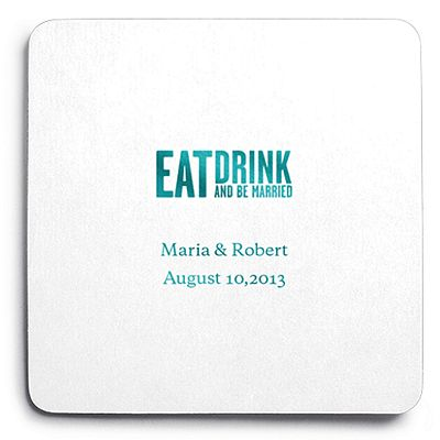 Candy Colorful Small Round Cards Wedding coasters, Invitation